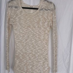 Pink Rise White And Cream Light Layering Sweater